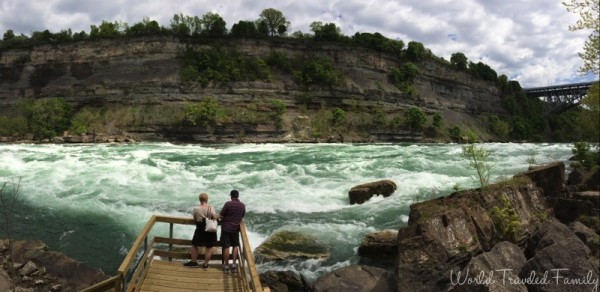 Panorama at White Water Walk in Niagara Falls