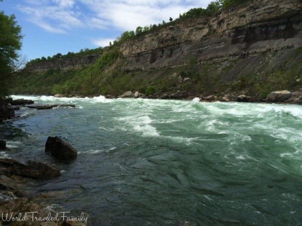 views of White Water Walk in Niagara Falls