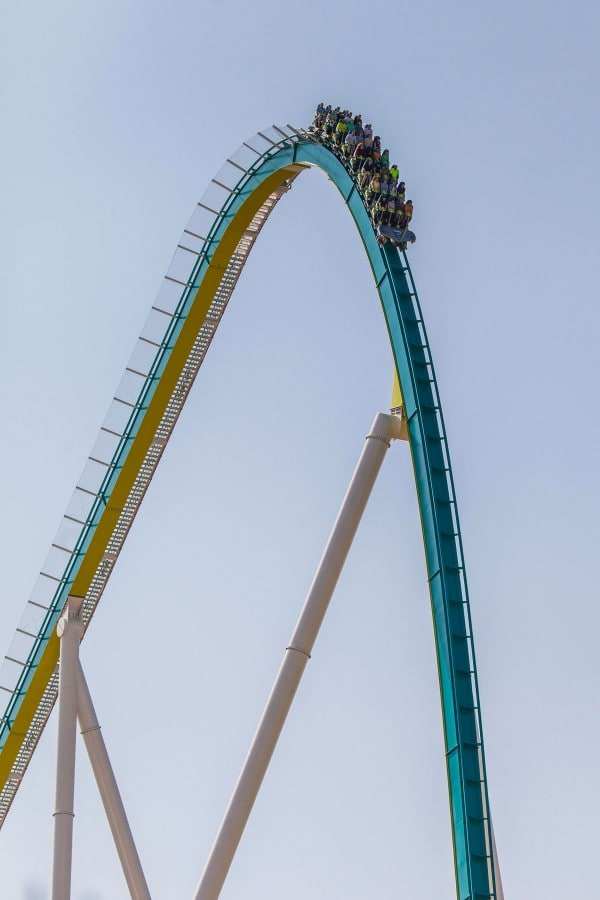 Fury 325 Carowinds First Drop
