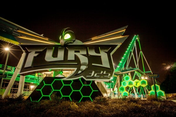 Fury 325 Carowinds  - at night