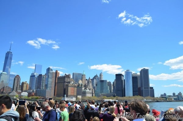 View of NYC from Statue Cruises