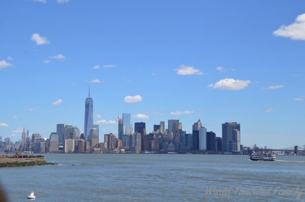 View of New York City from Statue of Liberty, NYC