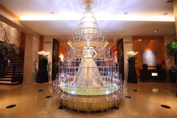 Elie Saab Christmas Display at Four Seasons Hotel Beirut.