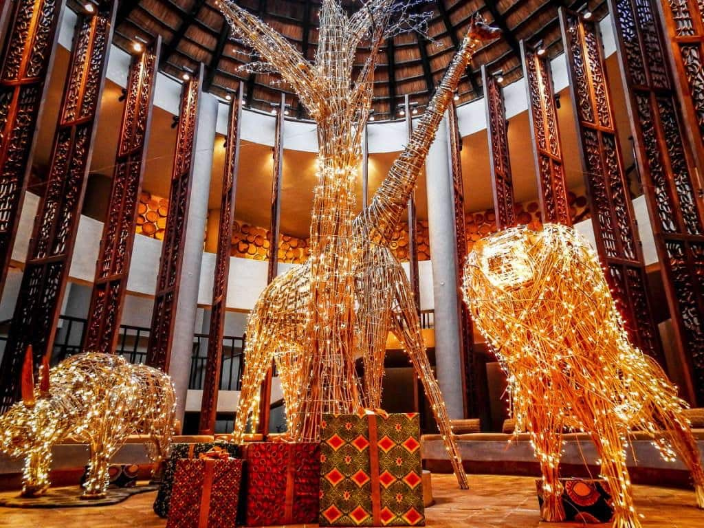 Their holiday display incorporates many of the beautiful creatures that guests will see while visiting the area set to lights. Four Seasons ... & The Four Seasons Sparkles For The Holidays - World Traveled Family