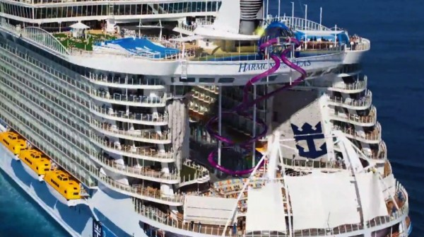Harmony of the Seas - New Abyss 100 ft slide