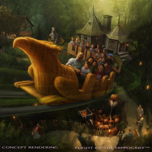 Universal Studios Hollywood Flight of Hippogriff rendering