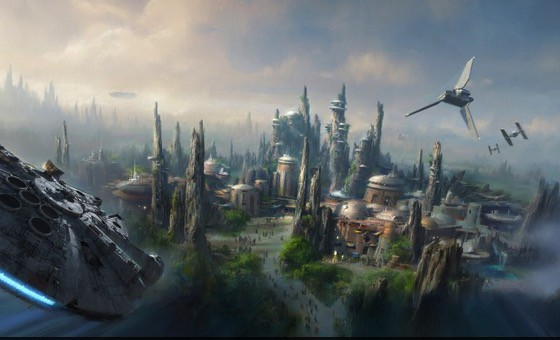 Star Wars-Themed Land Artist Concept Disneyworld