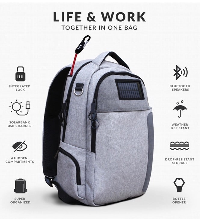 Cool New Travel Back Pack is Solar Powered & Includes Anti-Theft Device!