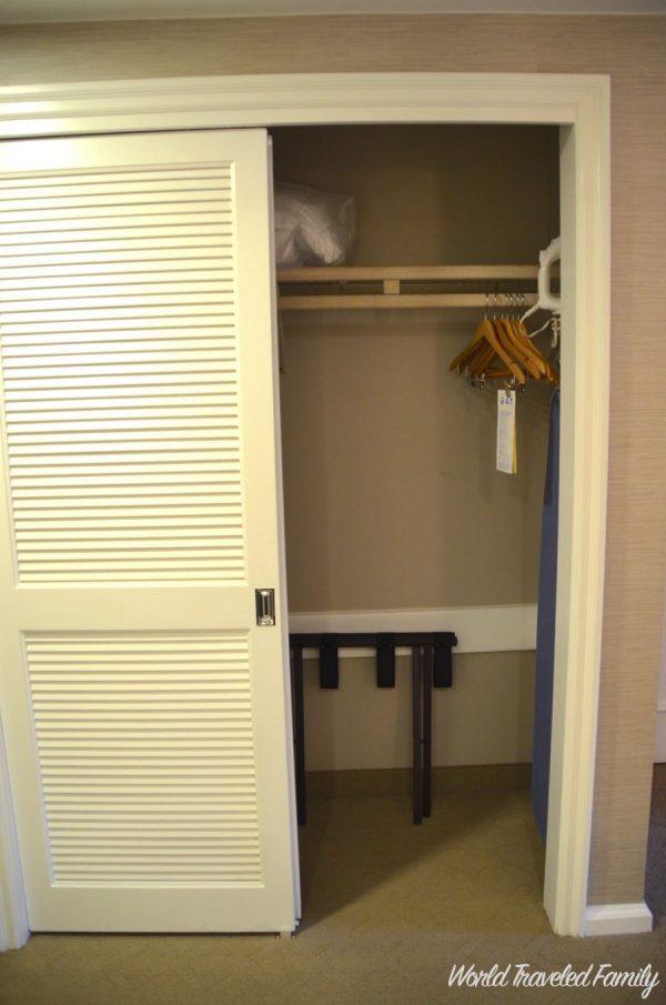 Disney's Beach Club Resort ~ Room Tour - closet