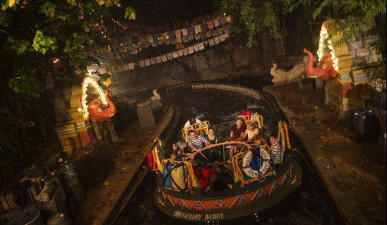 Kali River Rapids at Disneys Animal Kingdom at NIght
