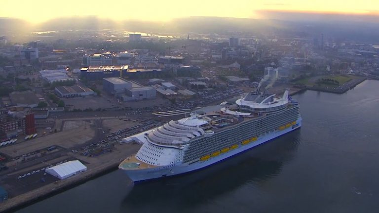 The World's Largest Cruise Ship – Harmony Of The Seas – Arrives In Southampton!