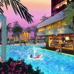 New Disneyland hotel rendering - rooftop pool