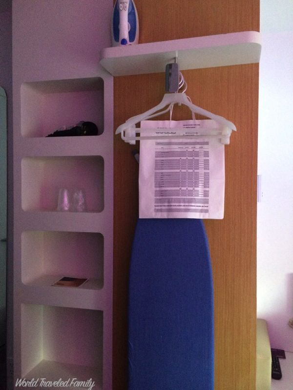 Yotel NYC Cabin Review - ironing board