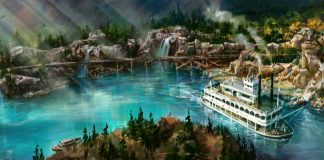 disneyland railroad rivers of america opening