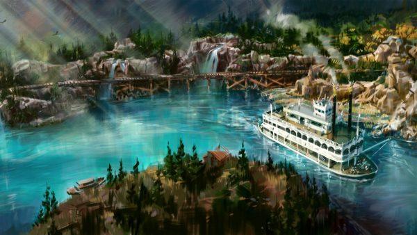 disneyland railroad rivers of america opening