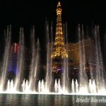 Bellagio Fountain with Paris hotel in background