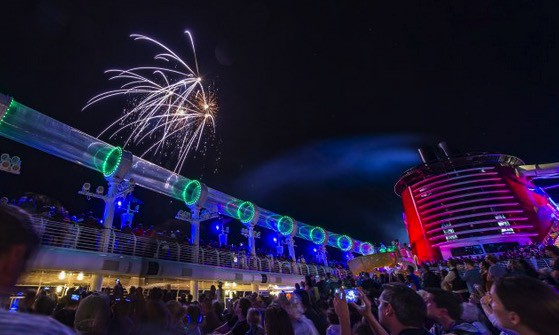 Star Wars Day At Sea - fireworks on the pool deck