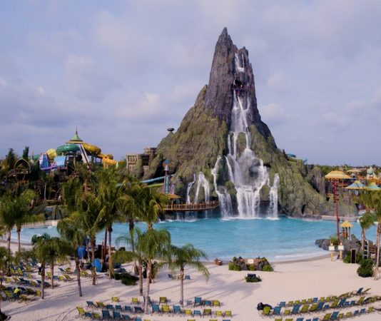 Universal Orlando's new South Pacific themed water park Volcano Bay - Waturi Beach