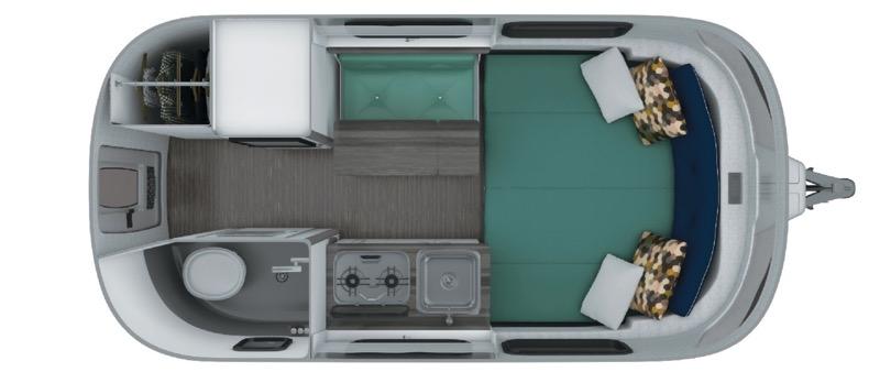 Airstream Nest 16FB floorplan