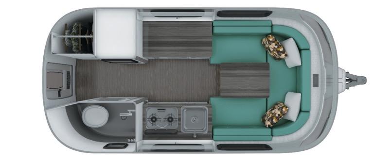 Airstream Nest 16U floorplan