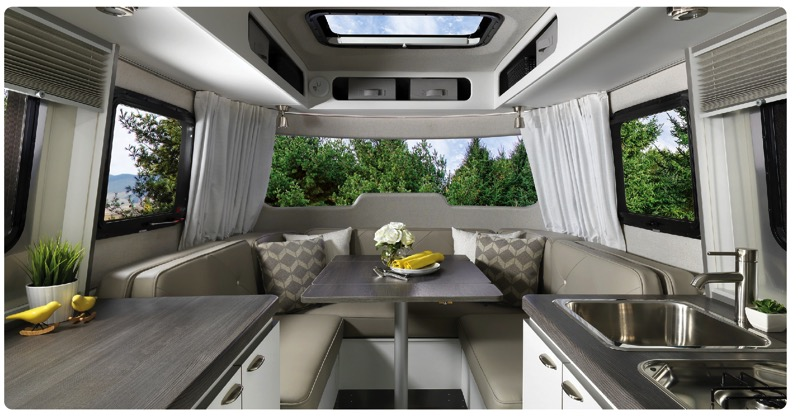 Airstream Nest Wingspan White interior