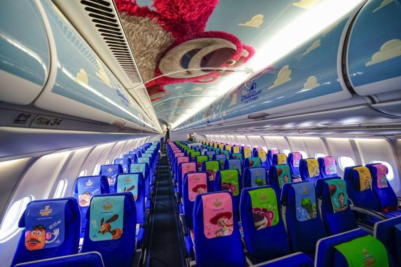 Interior of Disney Toy Story Aircraft