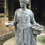 Winchester Mystery House - statues out front