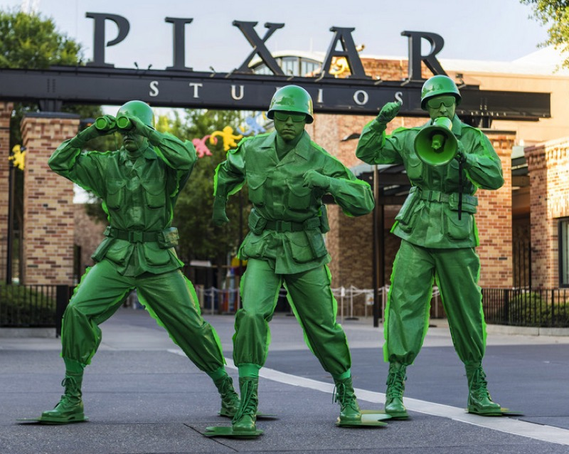 Sarge and the Green Army Man Drum Corps at toy story land